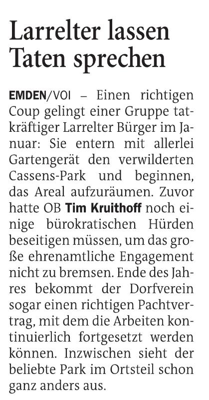 Ostfriesen Zeitung vom 30.11.2020 Bild 1